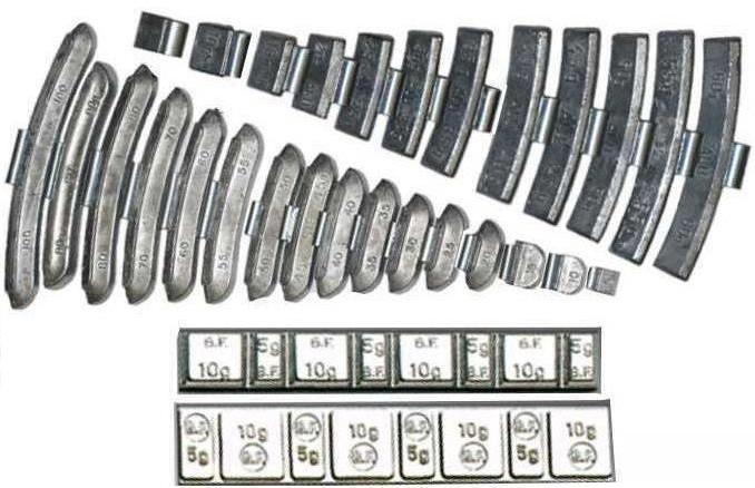 Типы балансировачных грузов и режимы балансировки колеса